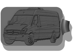 Sprinter NCV3 Passenger van Key Fob in Black Strong & Flexible