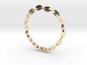 Large Welded Chain Bangle in 14K Gold