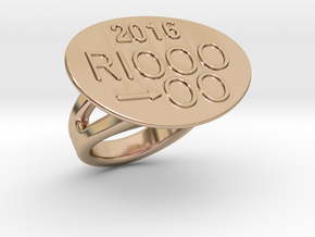 Rio 2016 Ring 33 - Italian Size 33 in 14k Rose Gold Plated