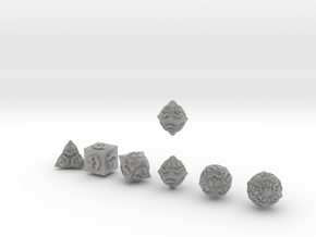 NECRON Innie Sharp skull dice in Metallic Plastic