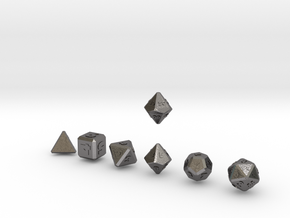 FUTURISTIC outie bevels dice in Polished Nickel Steel