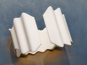 Wavy Bracelet or Napkin holder in White Strong & Flexible