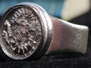 Seal of Cagliostro, Size 9 in Raw Silver