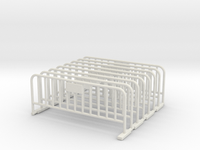 Barrier 01 (portable fence). O Scale (1:48) in White Strong & Flexible