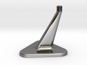Model Stand / 3mm diameter on top in Polished Silver