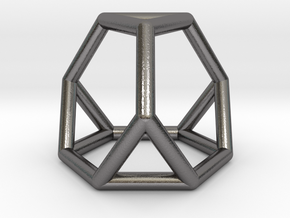 0267 Truncated Tetrahedron E (a=1cm) #001 in Polished Nickel Steel