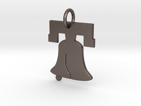 Liberty Bell Pendant Charm in Stainless Steel