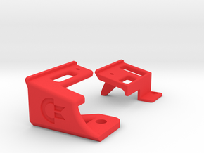 Keyboard Mounts for Commodore 64c and 64 Reloaded  in Red Strong & Flexible Polished