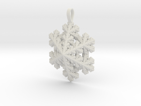 Snowflake Pendant  in White Strong & Flexible