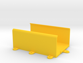 OMEX 600/200 ECU Holder - Clip-In Type - w/Feet in Yellow Strong & Flexible Polished