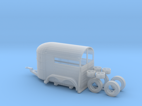 1/87th Tandem axle 13' long horse trailer in Frosted Ultra Detail