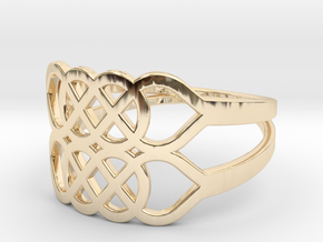 Size 9 Knot C5 in 14k Gold Plated