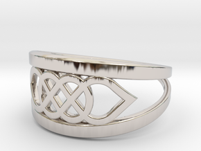 Size 6 Knot C6 in Rhodium Plated