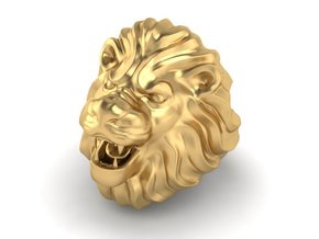 LION RING SIZE 9 1/4 in Polished Brass