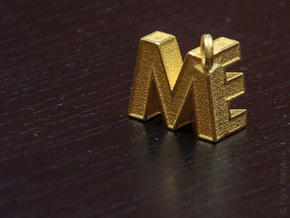 Letters Trinket in Polished Gold Steel