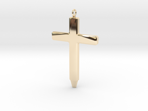Memory Cross in 14k Gold Plated