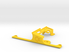 LONG Keyboard Mounts for Commodore 64c Cases in Yellow Strong & Flexible Polished