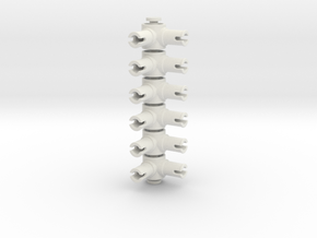 Pin Connector #6 in White Strong & Flexible