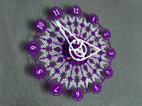 Kaleidoscope Clock - Part B in White Strong & Flexible