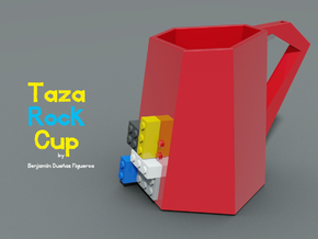 Taza Rock in Red Strong & Flexible Polished