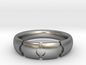 Enigmatic ring_Size 8 in Raw Silver