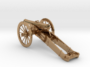 12 Pound Middle cannon in Polished Brass
