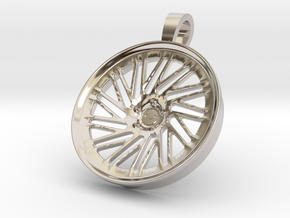 Vossen LC105 KeyChain Pendant 35mm in Rhodium Plated