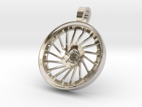 Vossen LC106 KeyChain Pendant 35mm in Rhodium Plated