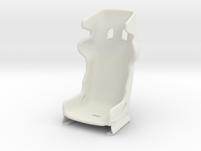 1/6 Scale Racing Seat in White Strong & Flexible