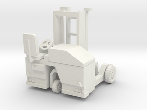 H0 scale: Forklift, Vorklift, Kooiaap, Gabelstaple in White Strong & Flexible