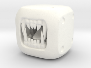 WereWolf - Monster Dice - 16mm in White Strong & Flexible Polished