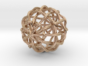 0396 Waves on the Sphere (d=5cm) #002 in 14k Rose Gold Plated