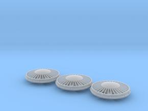 """FN0011 36"""" Cap Fan 1/87.1 in Frosted Extreme Detail"""