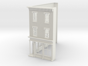 Philadelphia Corner Store  3s O scale front  in White Strong & Flexible