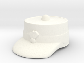 Peaked Forage Cap (Test) in White Strong & Flexible Polished