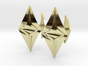 Head to Head Fusion, Bend Cufflinks in 18k Gold Plated