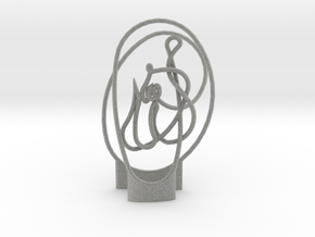 Large Allah Knot With Extruded Stand in Metallic Plastic