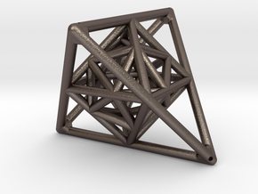 Tetrahedron with Octahedron and Icosahedron in Stainless Steel