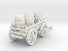 4-wheeled cart with barrrels in White Strong & Flexible