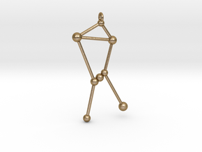 Orion Constellation Pendant in Polished Gold Steel
