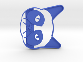 Grumpy Cat Cookie Cutter in Blue Strong & Flexible Polished