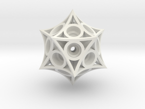 Icosahedron Magnet Ball Lattice in White Strong & Flexible