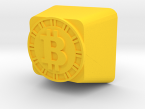 Bitcoin Cherry MX Keycap in Yellow Strong & Flexible Polished