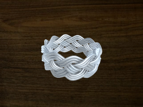 Turk's Head Knot Ring 4 Part X 11 Bight - Size 13 in White Strong & Flexible