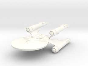 Hawker Class BattleCruiser in White Strong & Flexible Polished