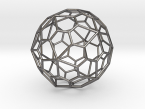 0319 Pentagonal Hexecontahedron E (a=1cm) #001 in Polished Nickel Steel