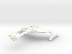 D 4 Battlecruiser in White Strong & Flexible Polished