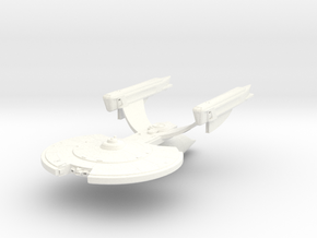 Akyazi Class VII C HvyDestroyer in White Strong & Flexible Polished