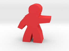 Power Armor Hero Meeple in Red Strong & Flexible Polished