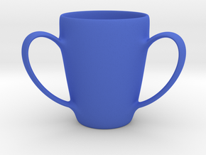 Coffee mug #2 XL - 3 Handles in Blue Strong & Flexible Polished
